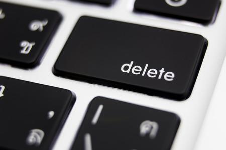 Delete button close up