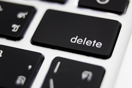 Delete button close up