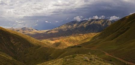 picturesque mountain range Stock Photo