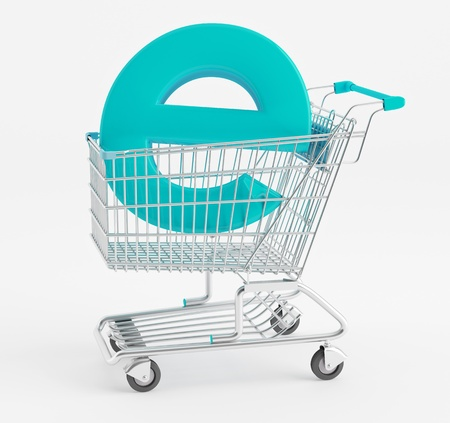 e store: Symbol e-commerce shopping cart
