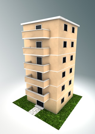Illustration of a condominium   illustration