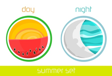 Illustration of summer, icons set. Stock Vector - 13680756