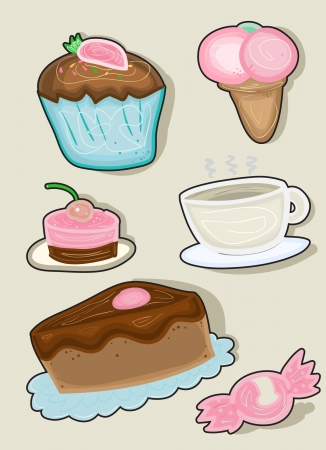 Illustration of sweets. Vector