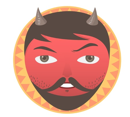 Vector illustration of Satan s face  Vector