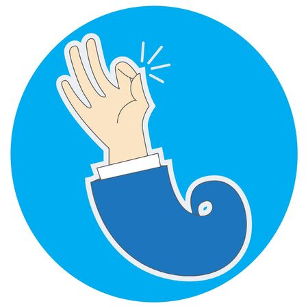 Vector illustration of an ok hand-gesture   Stock Vector - 14486446