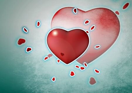 Heart background Stock Photo - 17076310