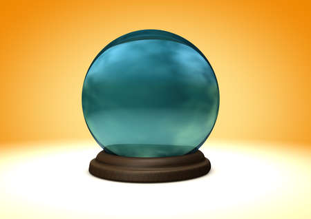 foretell: Illustration of a crystal ball Stock Photo