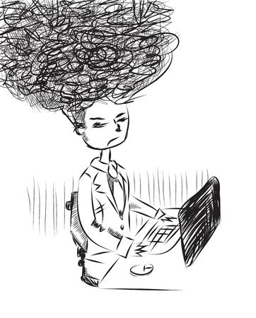 businesslike: Demasiado trabajo ilustraci�n Vectores