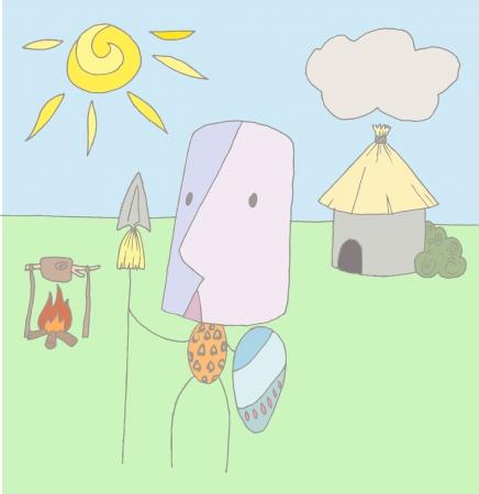 aborigine: Illustration of a cute aborigine Illustration