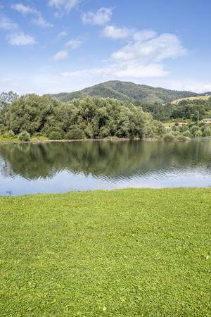 landscaping riverside: Picture of an Italian lake, taken in summer, daylight