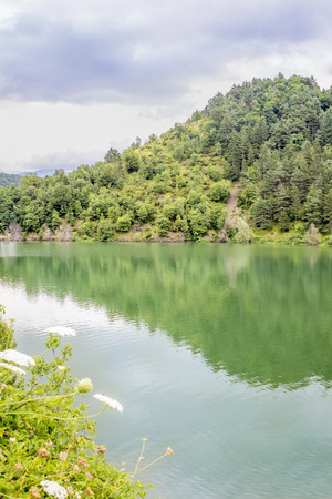 riverside landscaping: Picture of an Italian lake, taken in summer, daylight