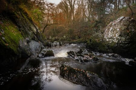 Gorgeous view of Fairy Glen at Betws-y-Coed in Snowdonia National Park, Wales in the autumn. Zdjęcie Seryjne
