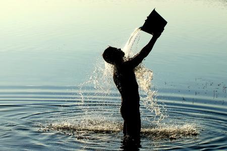masuria: morning shower in the lake district Poland Masuria