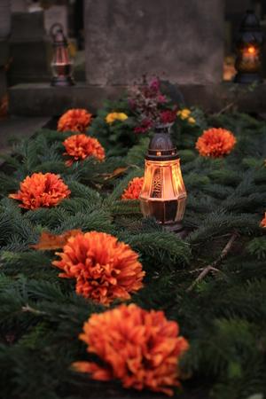 transience: cemetery light