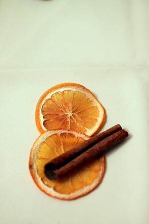dried orange slices with cinamon Stock Photo - 50963346