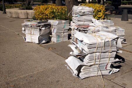 pile of newspaper Stock Photo