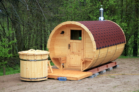 Portable sauna Stock Photo - 82930886