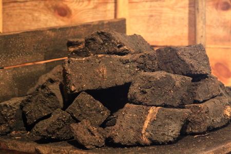 Peat coal