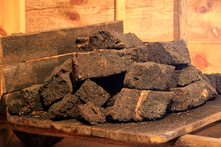 Peat coal Stock Photo - 80747582