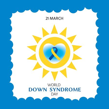 Vector illustration promoting World Down Syndrome Day, graphics for poster or banner.