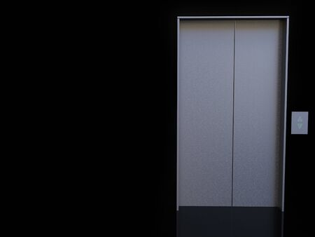 3D rendering of an elevator or lift with black