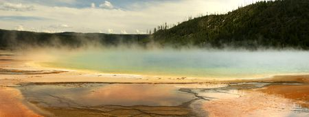 Prismatic Springs - Yellowstone 1 Stock Photo - 5697425