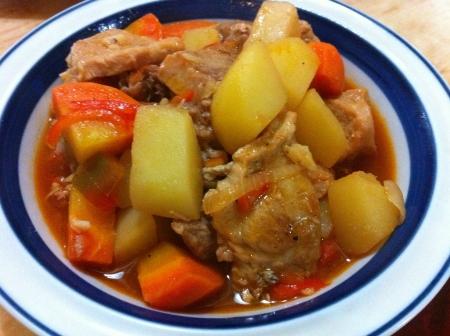 pinoy: Pinoy pork afritada Stock Photo