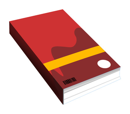 magazine stack: vector book isolated on white background Illustration