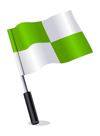 3d flag icon Vector