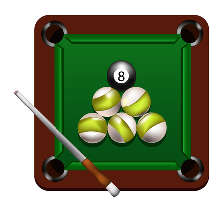 billiard game Vector