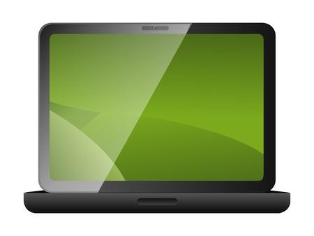 Laptop computer. Vector illustration Vector