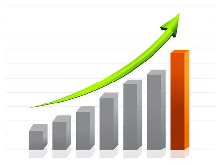 비즈니스 성장 그래프 일러스트