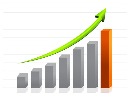 business growth graph Imagens - 26027402