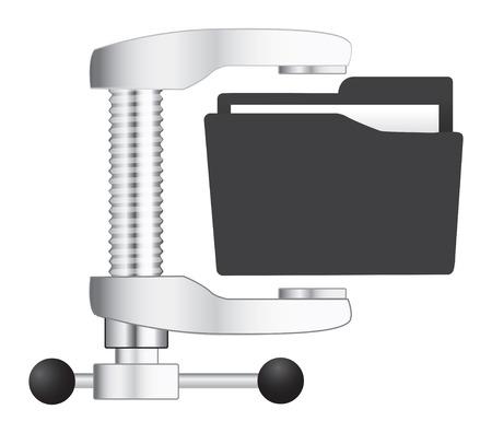 Vector illustratie van de computer zip folder icon Stock Illustratie
