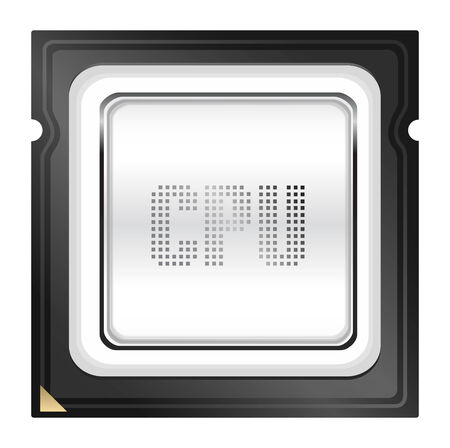 CPU (central processing unit) - Computer chip or microchip. Stylized icons Vector