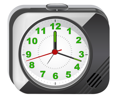 electronic alarm clock Vector
