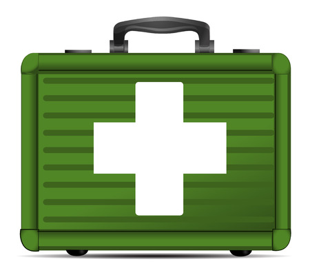 Vector first aid case
