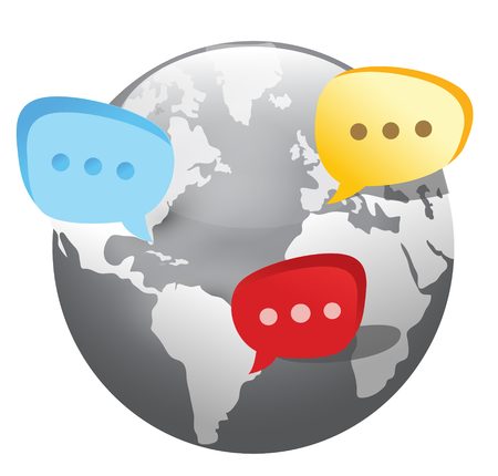 global social network icon Vector