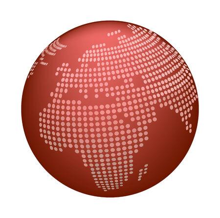 Glossy Globe Icon Vector