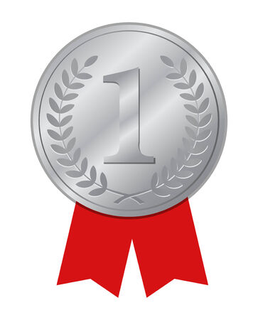 Number One winner ribbon   Vector