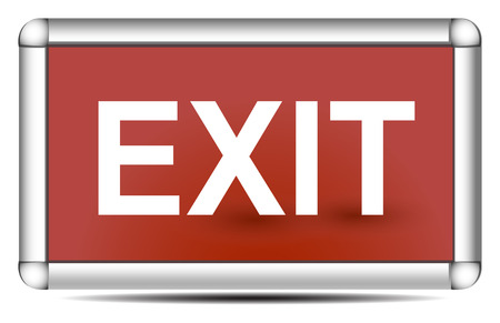 emergency exit label: exit sign