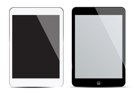blank screen tablet Vector
