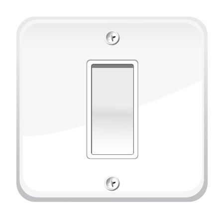kippschalter: Ein  Aus-Schalter. Vektor-Illustration