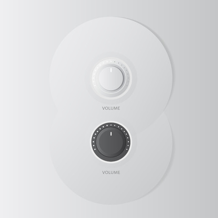 Technology music button (volume settings, sound control Vector