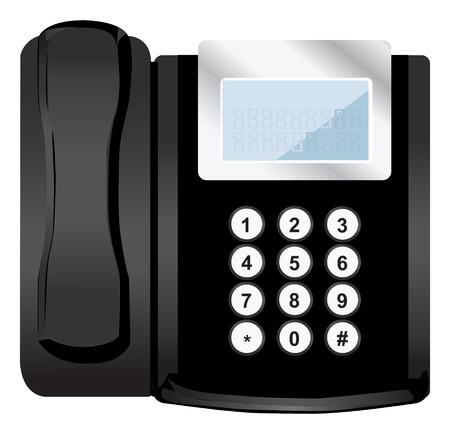 vector black phone Vector