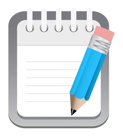 notepad pencil icon Vector