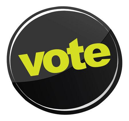 vote button: Vote Button Illustration