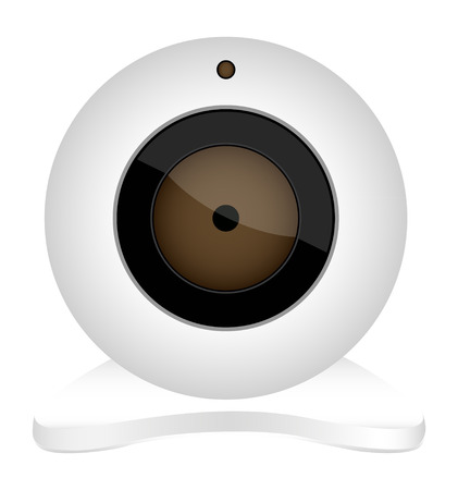 webcam: white webcam icon Illustration