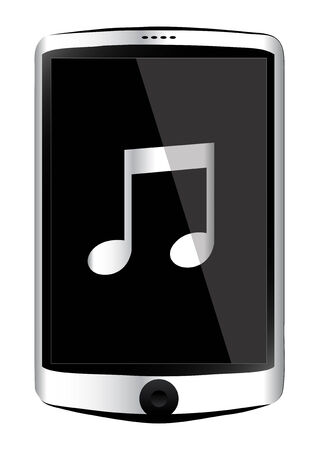 smart phone mobile with music sign Vector