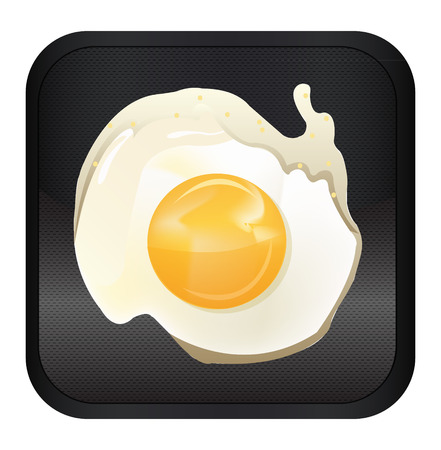 Fried egg app icon, vector Vector